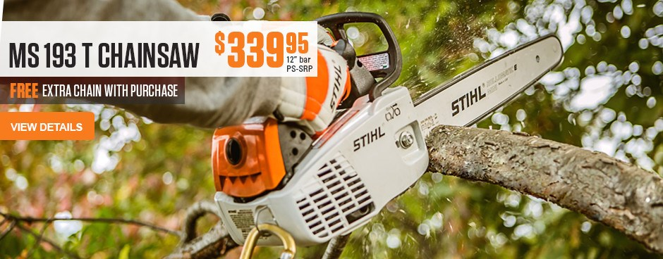 Free Extra Chain with MS 193 T Chainsaw purchase!